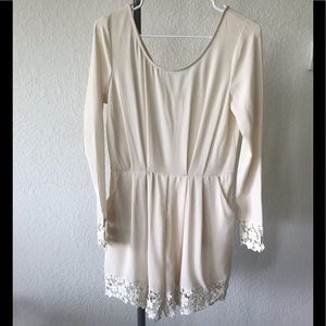 NWOT ILLA ILLA Long Sleeve Romper with Lace